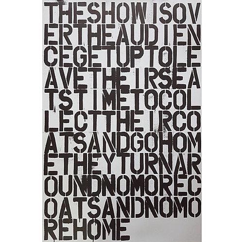 Christopher Wool x Felix Gonzalez-Torres Rare Installation Poster