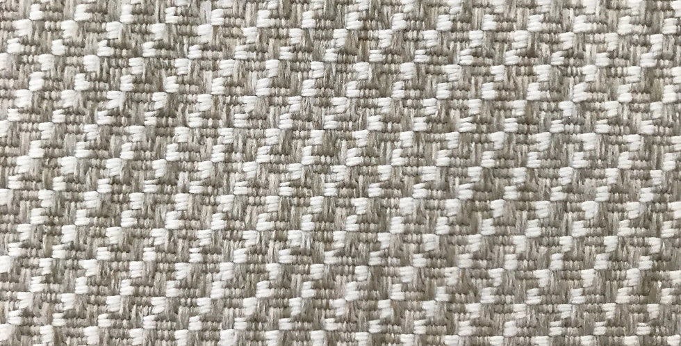 White and Oatmeal Textured Woven