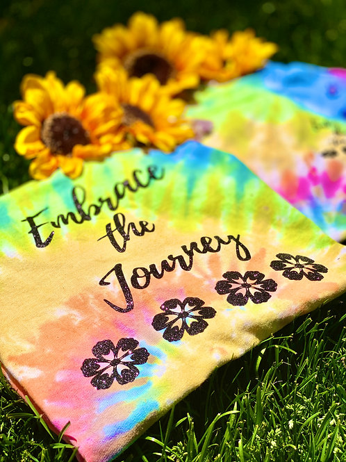Embrace the Journey: Tie-Dye CD100 Adult 5.4 oz., 100% Cotton T‑Shirt