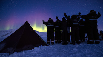 Watching the Aurora in Camp