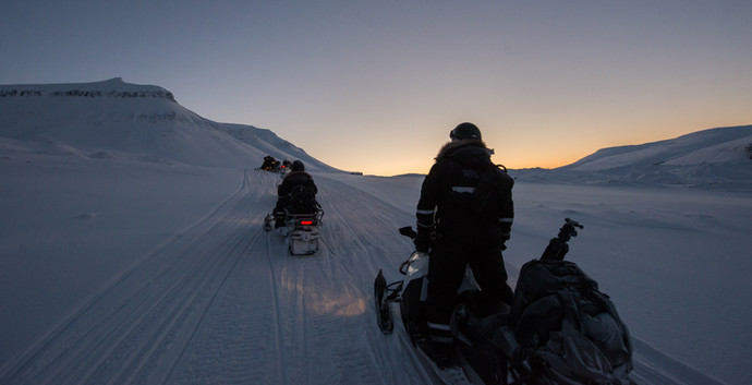 Snowmobiling into the Night