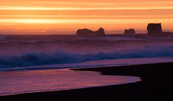Sunset at Vik beach