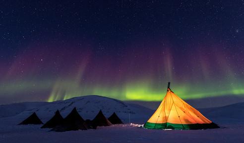Camping Under the Aurora