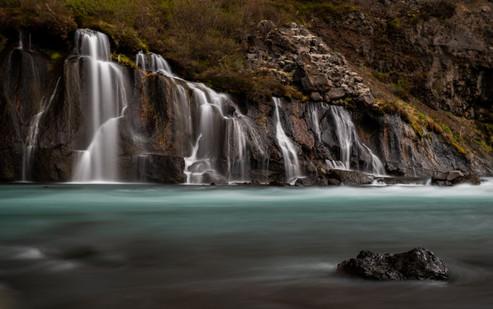 Hraunfossar Cascades