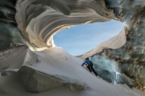 Exploring a Massive Ice Cave