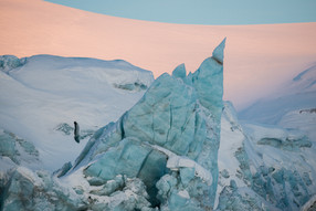 Shard of Ice on a Glacial Face