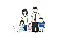ご家族のイラスト