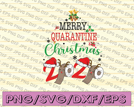 Merry Quarantine Christmas 2020 Pajamas Matching Family Gifts PNG,