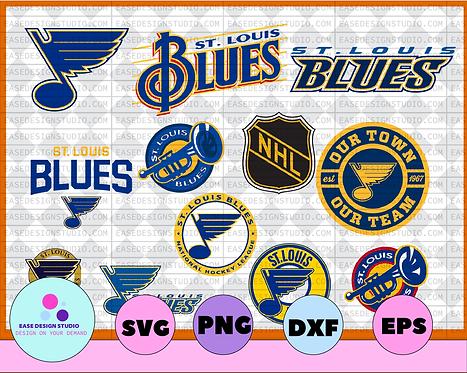 St Louis Blues Cut Files, St Louis Blues SVG Files, St Louis Blues SVG Dxf NHL