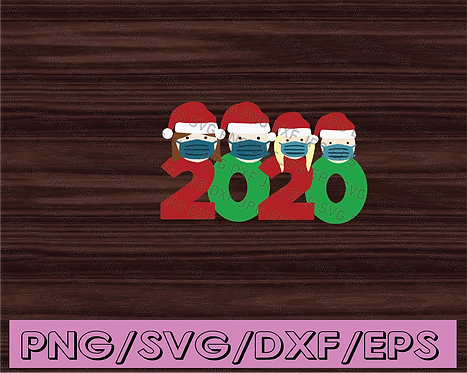 2020 Customizable Family Christmas SVG PNG sublimation digital download