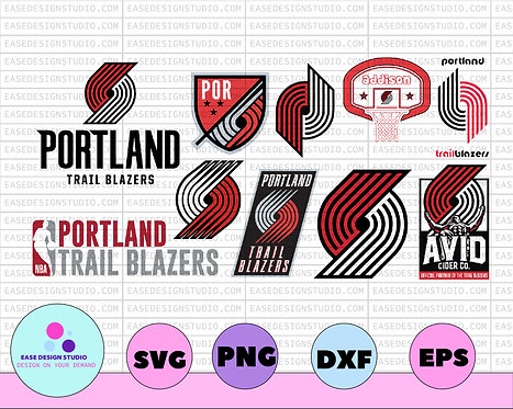 NBA PORTLAND TRAILBLAZERS svg,basketball bundle svg,svg,png,dxf,NBA