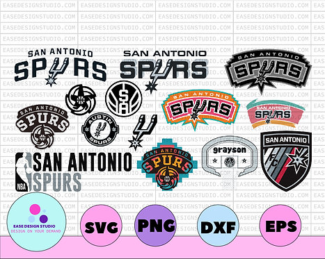 San Antonio Spurs SVG,  NBA Basketball bundle svg,svg,png,dxf,NBA