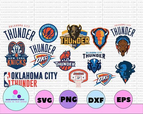 NBA Oklahoma City Thunder, Oklahoma City Thunder svg,basketball bundle svg,NBA