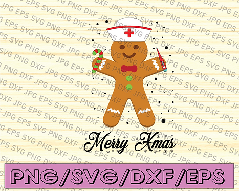 Merry Xmas, Nursing Christmas, Nursing Gift, Christmas Gift Png INSTANT DOWNLOAD