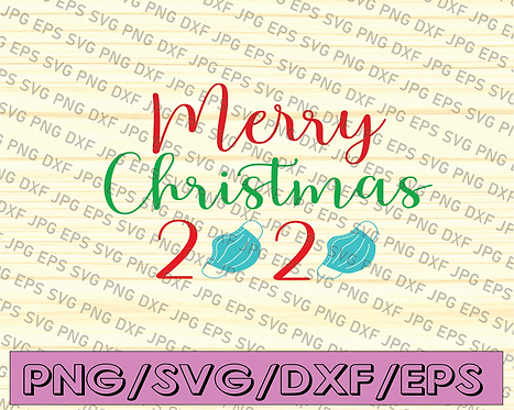 Merry Christmas 2020 SVG File, Digital Download for Cricut and Silhouette svg,