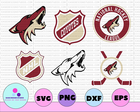 Arizona Coyotes SVG, dxf,png,eps, NHL svg, hockey cricut, hockey svg,NHL