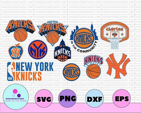 NBA Logo New York Knicks National Basketball, basketball svg,svg,png,dxf,NBA
