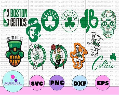 Boston Celtics basketball svg, celtics svg, basketball svg, cut file, NBA