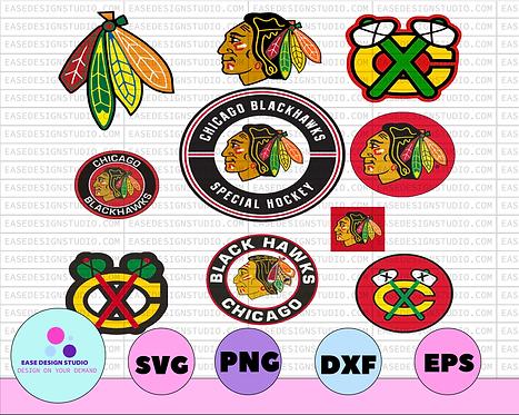 Chicago Blackhawks Svg, Blackhawks Svg, NHL svg, hockey cricut, Cut File, NHL