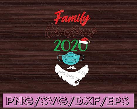 2020 mask quarantine Christmas svg png cricut Funny Merry Christmas svg