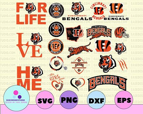 Cincinnati Bengals, Cincinnati Bengals svg, Cincinnati Bengals clipart, NFL TEAM