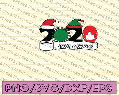 2020 mask quarantine Christmas svg png studio 3 Funny Merry Christmas svg