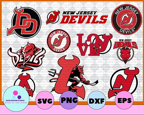 New Jersey Devils Svg, Devils Svg,NHL svg, hockey cricut, NHL