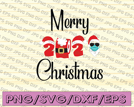 """Merry Christmas 2020 SVG File, Digital Download for Cricut and Silhouette"