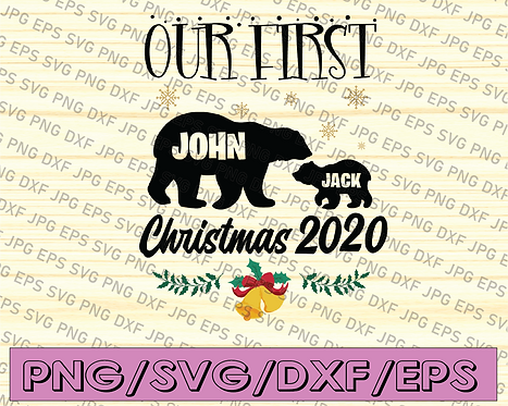 Our first christmas 2020 svg, dxf,eps,png, Digital Download