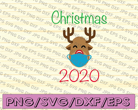 2020 christmas svg, the year we stayed home, Quarantined Christmas,