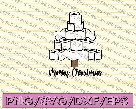 Toilet Paper christmas Tree svg png studio 3 Christmas svg Funny Christmas svg