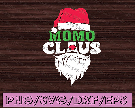 Momo claus svg,Santa Claus svg, Christmas svg, dxf,eps,png, Digital Download