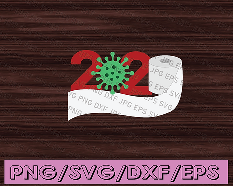 Toilet Paper Christmas Gift 2020 - quarantine svg, Christmas SVG Bundle, SVG dxf