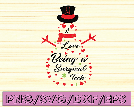 Love Being Surgical Tech Svg, Surgical Tech SVG, Digital Cut Files, Sublimation