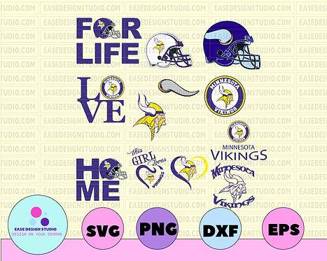 Minnesota Vikings Svg Png Jpeg Dxf Eps Vector Files ,NFL TEAM