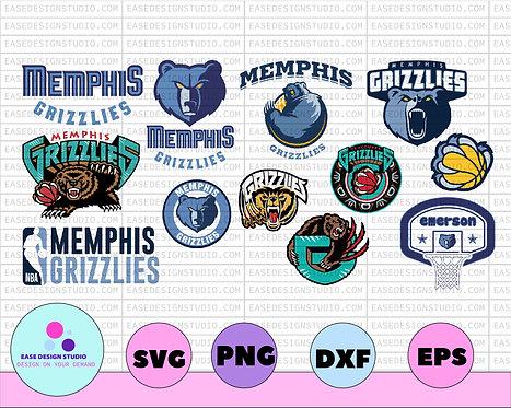 NBA Memphis Grizzlies svg files, Grizzlies Party, Sign, Clipart, Stickers, NBA