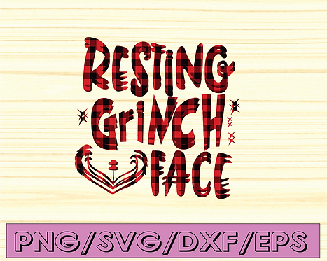 Resting Grinch Face SVG / Christmas svg / Holiday SVG / xmas svg- Cutting files