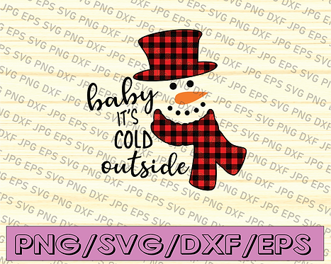 Baby It's Cold Outside Svg, Christmas Svg, Winter T Shirt Svg,