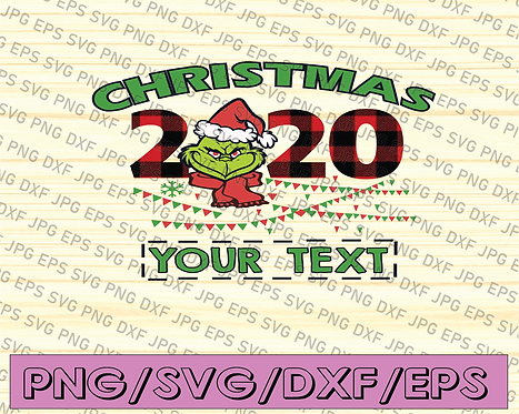 Personalization Christmas 2020 Grinch PNG, The Grinch, Christmas Grinch,
