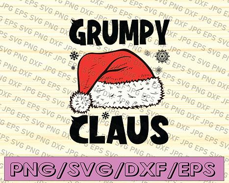 Grumpy Claus Santa Hat Christmas SVG, Grumpy Claus SVG, Christmas 2020 SVG,