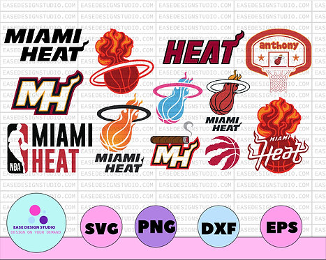 NBA Miami Heat SVG, Miami, NBA, Silhouette Cut File, Cricut Cut File,NBA