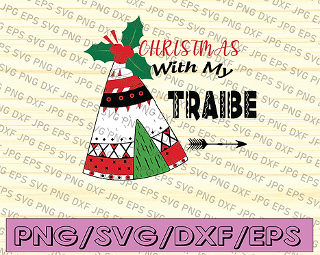Christmas With The Tribe Png, Family Christmas, Christmas Tribe Png, Sublimation