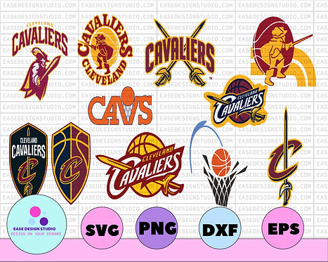 Cleveland Cavaliers NBA Logo - Basketball Svg - Basketball Clipart,  NHL