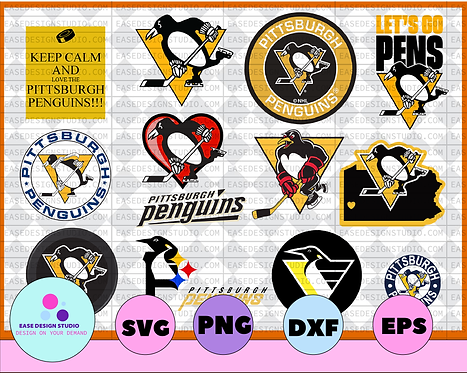 Pittsburgh Penguins Svg, Penguins Svg, NHL svg, hockey cricut, NHL