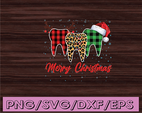 DIGITAL FILES PNG - Merry Christmas Dental Assistant Tooth Xmas Gift Png,
