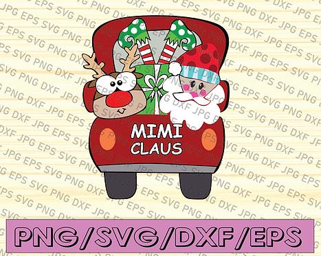 Mimi Claus Merry Christmas Shirt,Funny Grandma Shirt,Grandma Christmas Shirt,
