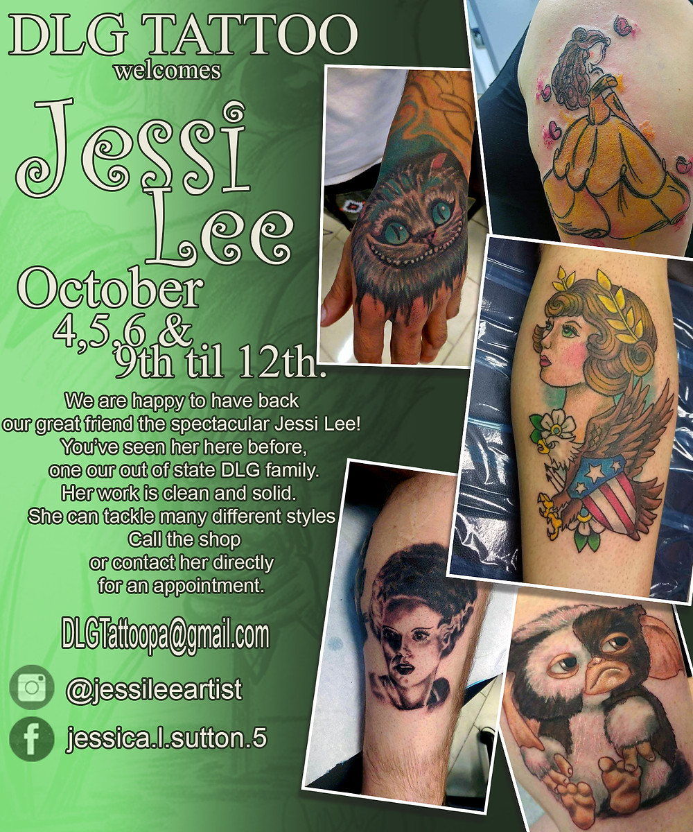 this is the official Dates for Jessi Lee's guest spot October 2018