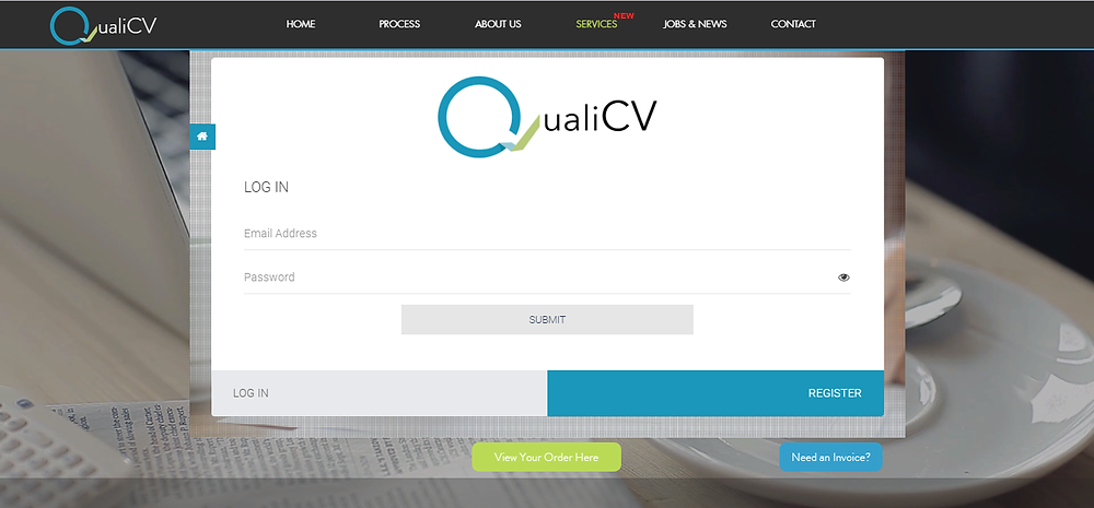 QualiCV Service Page