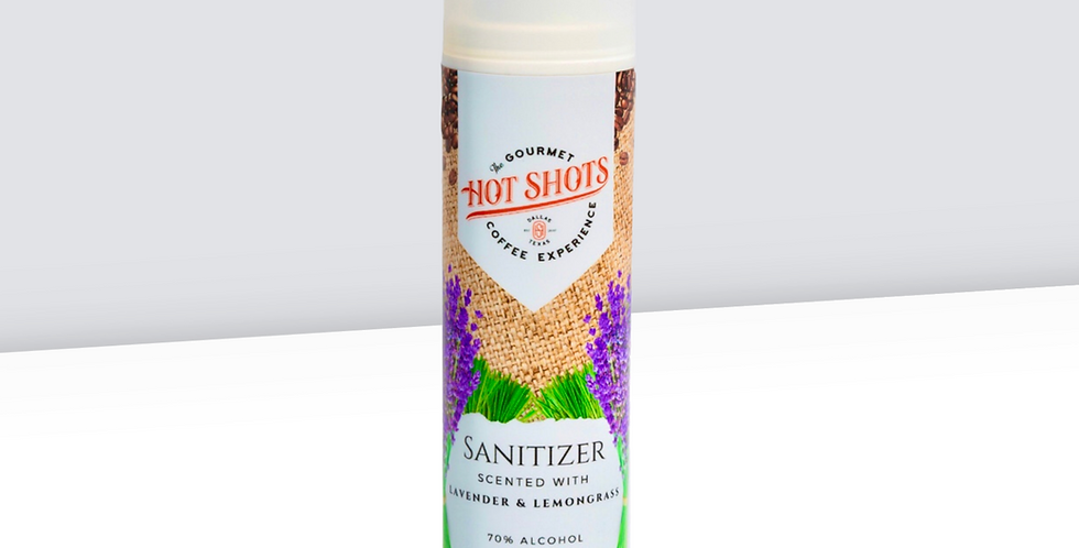 Hot Shots Sanitizer - Lavender and Lemongrass