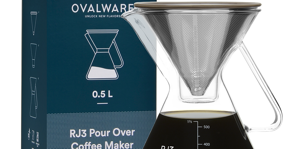 RJ3 Pour Over Coffee Maker with Filter